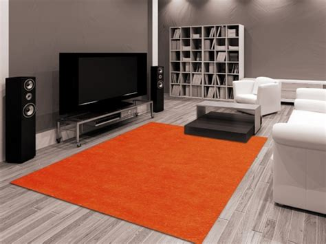 tappeti moderni outlet shaggy fluo arancione outlet tappeti