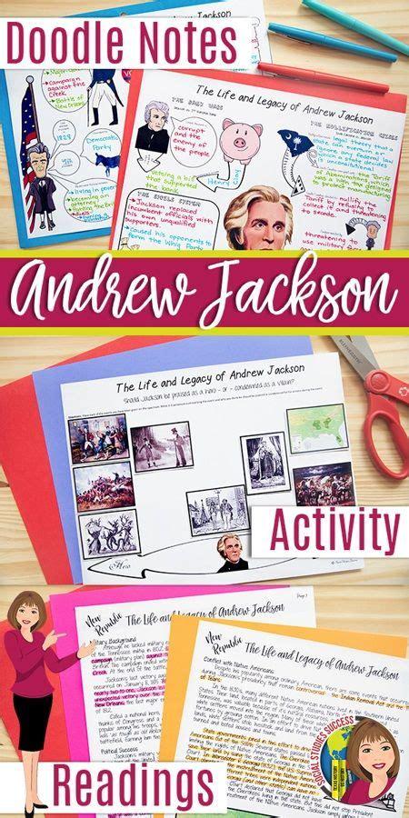 ANDREW JACKSON ACTIVITIES   Doodle notes, Andrew jackson ...
