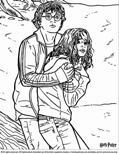 Potter Harry Coloring Pages Colouring Library Sheets
