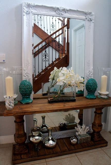 floor mirror behind console table pin by teresa nation stephens on entry foyer staircase heaven pi