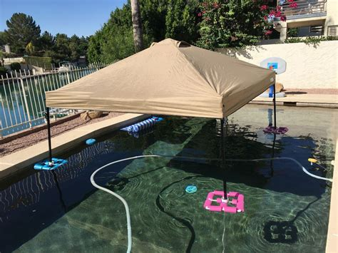 canopygazebo     ez  float   pool  lake  cheap  steps  pictures