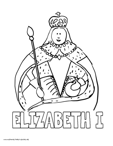 queen elizabeth ii coloring pages coloring pages