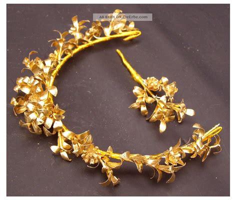 alter brautkranz anstecker diadem goldene hochzeit braut
