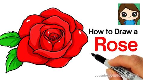 draw  rose step  step easy youtube
