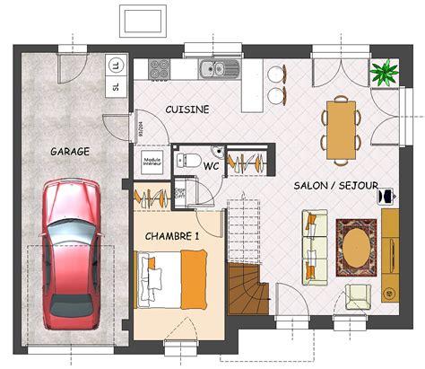 plan maison rdc 3 chambres construction maison neuve iroko lamotte maisons