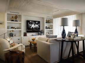 Built In Cabinets For Family Room tv built ins cottage living room elsa soyars