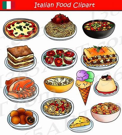 Clipart Italian International Graphics Clip Foods Italy