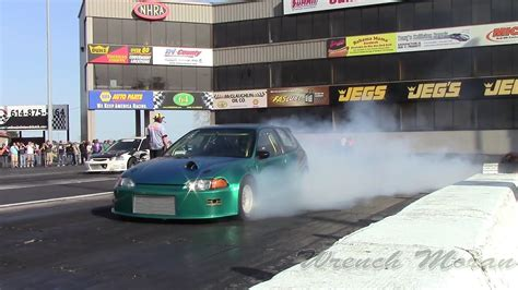 Turbo Beast Civic Slowmotion Motorsports Drag Racing