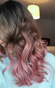 Road to grey. First stop; ash to pastel pink ombre | Hair ...
