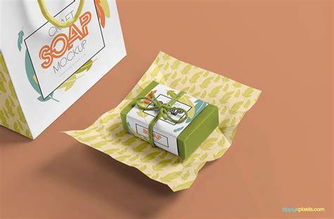 Retail soap bar packaging mockup. Free Craft Soap Bar Mockup on Behance