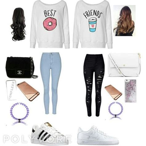 Best friend outfit (polyvore on we heart it) | Bff Polyvore and Clothes