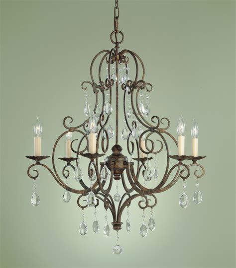 murray feiss f1902 6mbz chateau six light chandelier