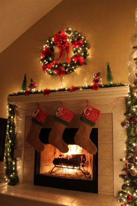 decorate fireplace for christmas 50 most beautiful christmas fireplace decorating ideas christmas celebrations
