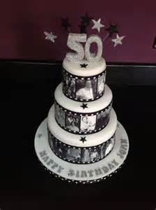 wire cake toppers reel cake with edible images 50th birthday cake by