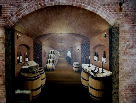edmonds wine cellar  mural works brick wine