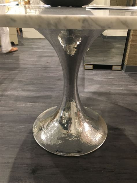 hammered metal table l base 52 marble dining table with hammered metal base mecox