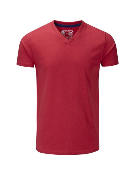 neck plain t shirt plain v neck t shirt 39 s t shirts from charles wilson