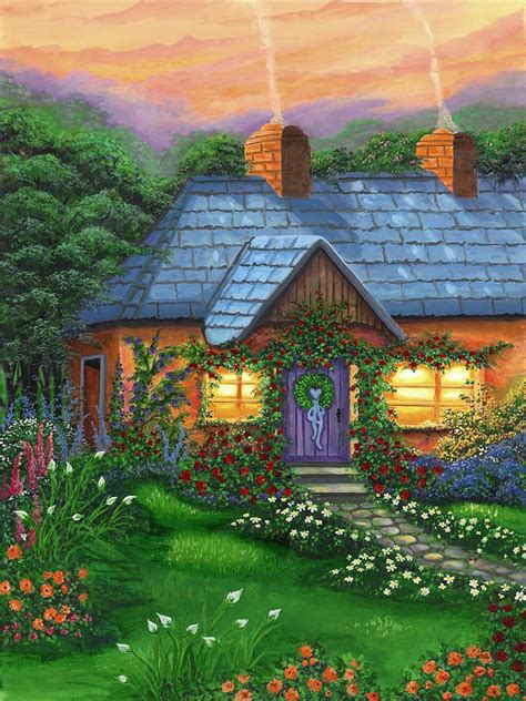 Rose Cottage Canvas Print  Canvas Art By Bonnie Cook