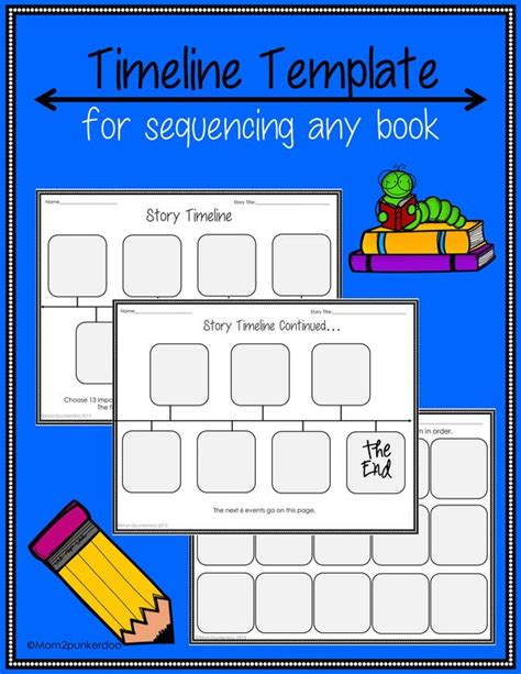 timeline template for story sequencing timeline template for any book any book