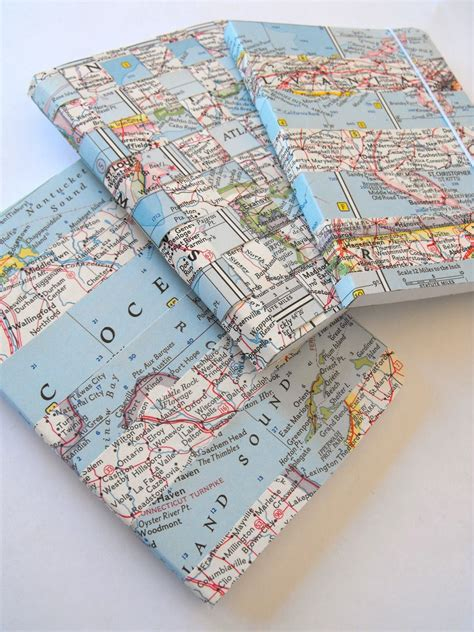 ruby murrays musings ways with vintage maps washi notebooks