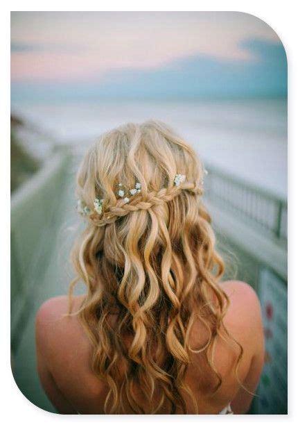 peinados de novia cabello suelto  flores peinados de