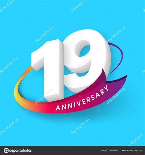 Anniversary Emblems 19 Anniversary Template Design — Stock
