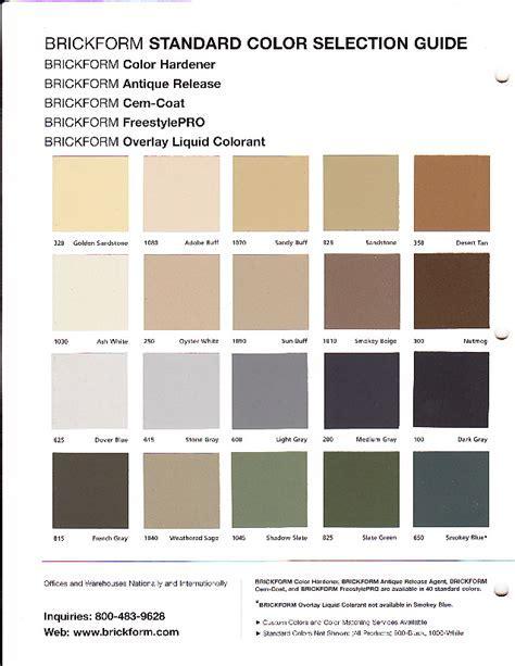 Walkers Concrete LLC   Color Chart Your Concrete