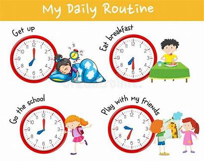Routine Daily Activity Chart Different Clipart Showing