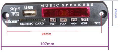 Remote Mp3 Usb-sd Module W/ Radio With Ir Control