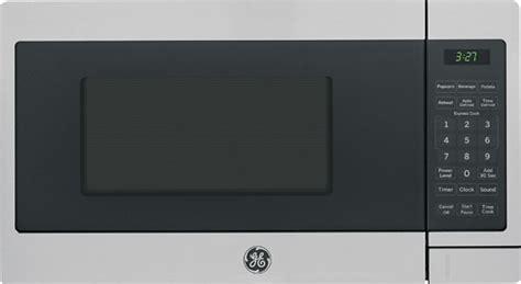 Best Buy Microwave Countertop by Ge 0 7 Cu Ft Compact Microwave Silver Jes1072shss Best Buy