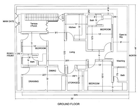 marla house plan civil engineers building plans