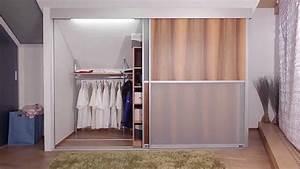 Begehbarer Kleiderschrank Selber Bauen Dachschräge : dachschr genschrank von auf zu youtube ~ Watch28wear.com Haus und Dekorationen