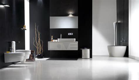 Badezimmer Modern Schwarz by Modern Black Bathroom With White Floor And Accessories