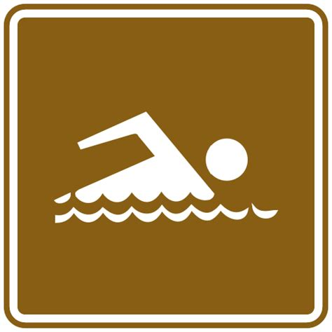 US Road Signs: swimming (tourist)