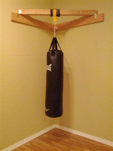 boxing heavy bag ceiling mount but the end result is quite functional images frompo