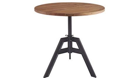kitchen table size alias adjustable bistro table cb2