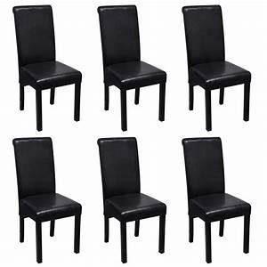 Esszimmerstühle 6er Set Günstig : esszimmerstuhl kunstleder schwarz 6er set g nstig kaufen ~ Indierocktalk.com Haus und Dekorationen