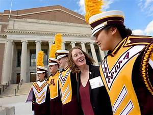 Photos: U of M Marching Band director makes history ...