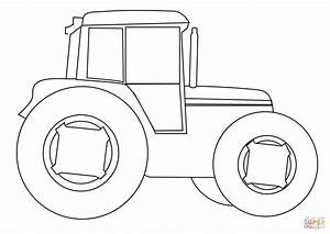farm tractor coloring page free printable coloring pages With tractor template to print