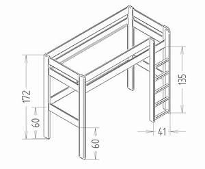 Lit Enfant Dimension : lit mezzanine enfant dominique 172 cm quip ~ Teatrodelosmanantiales.com Idées de Décoration
