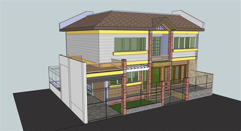 proposed  storey residence sketchup  cad model grabcad