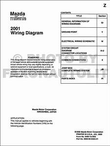 2001 Mazda Millenia Wiring Diagram Manual Original