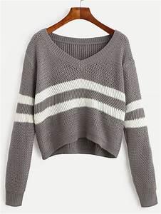 Pullover Trends 2017 : fall 2017 fashion trends romwe sweatshirts sweaters sweaters cropped sweater pullover ~ Frokenaadalensverden.com Haus und Dekorationen