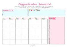 Planner Mensal Calendário para Organização Pessoal
