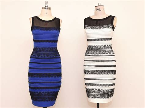 why do we see different colors white and gold or black and blue why see the dress
