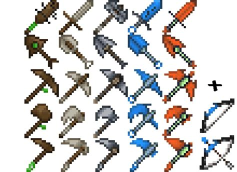 Ca0lan's 16x16 Tools Now With Bows! Minecraft Texture Pack