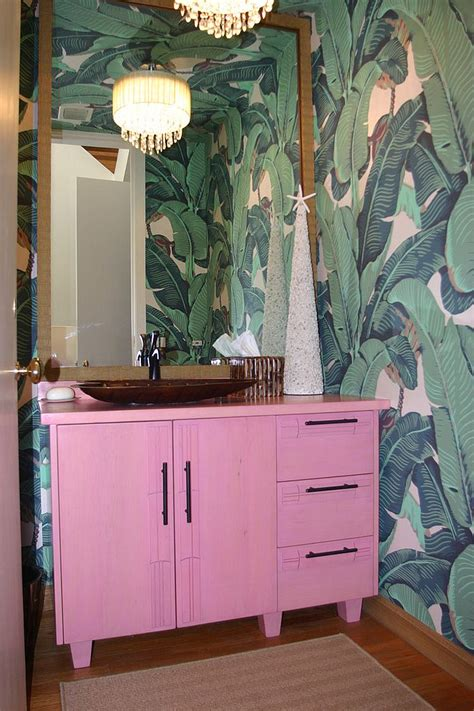 tropical themed bathroom hot summer trend 25 dashing powder rooms with tropical flair