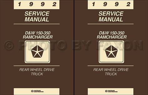 auto repair manual online 1992 dodge ram wagon b250 engine control 1992 dodge pickup truck ramcharger repair shop manual gas and diesel dw 150 350 ebay