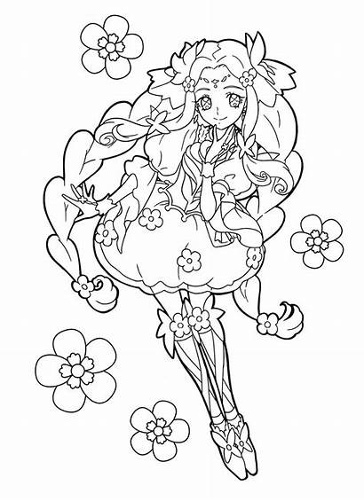 Coloring Cure Felice Precure Anime Pretty Happiness