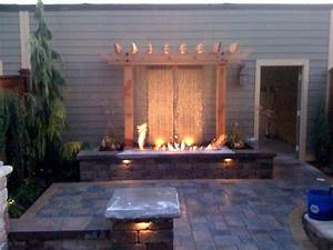 Backyard Fire And Water Features All For The Garden